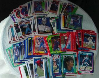Montréal Expos 200 vintage baseball card set for decoupage, framing, crafts, collecting 1990-92 MLB nl Washington Nationals FREE SHIPPING!