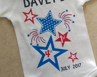 Personalized 1st Fourth of July