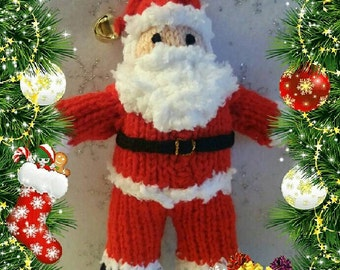 SANTA Claus/Father CHRISTMAS - Knitting PATTERN - to make knitted doll, Xmas, Noel, Gift idea, simple project, Soft toy