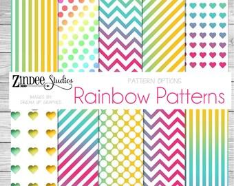 rainbow patterns Vinyl HEAT TRANSFER or ADHESIVE, htv or permanent adhesive vinyl printed vinyl