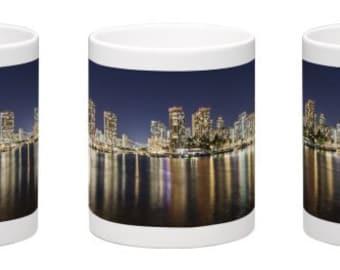 15 oz. Coffee Mug w/ Waikiki at Night, Honolulu, Oahu, Hawaii