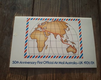 50th Anniversary First Official Air Mail Australia-UK 1931/81