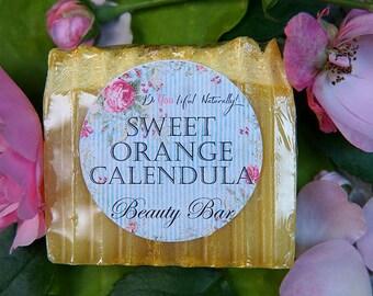 Sweet Orange & Calendula Organic Beauty Bar