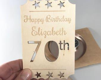 Personalised 70th Birthday Card, Keepsake 70th Birthday Card, Personalised 70th Milestone Birthday Card, 70th Celebration Birthday Card
