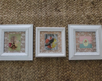 """Sizes  9.00"""" / 23 cm Picture Frame Hand Painted"""