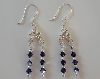 Byzantine Crystal Earrings (Shepherd Hook Style)