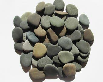 55 Guest Book Stones Wedding Stones Beach Wedding Favors Wish Stones Natural Flat Beach Stones Craft Stones Wishing stones (WS-11)