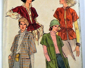 Vintage 1980's Jackets Sewing Pattern Vogue 9915 Misses' Size 8-10 Bust 31 - 32 inches Complete