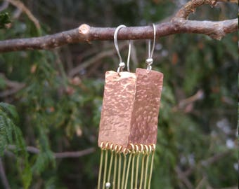 Copper and brass fringe dangles