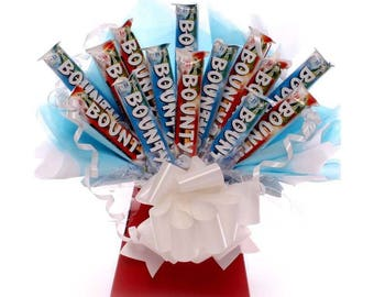 Bounty Chocolate Bouquet, Chocolate Gift, Chocolate Bar Bouquet, Bounty Bars, birthday gift, get well gift, thank you gift, chocolate hamper