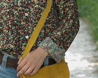 vintage bohemian bag in suede