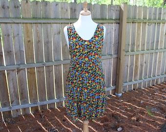 Afternoon Delight// Vintage 80's Colorful Floral Sun Dress