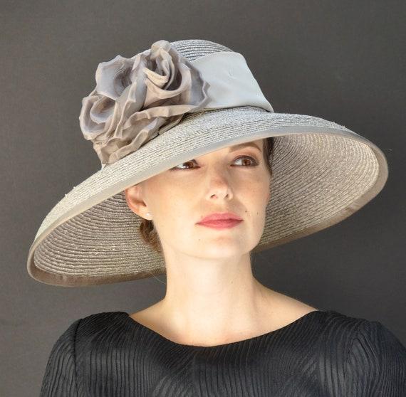 Wedding hat, Formal Hat, Occasion Hat, Taupe Hat, Audrey Hepburn Hat, Derby Hat