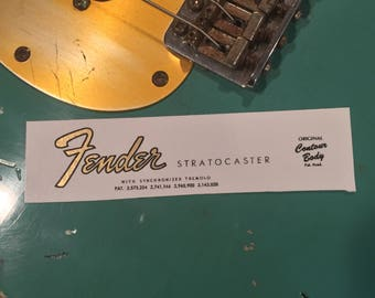 1964-65 Stratocaster Waterslide Decal