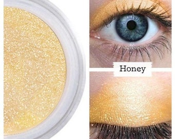 Gold Eyeshadow, HONEY, Mineral Eye Color, Gold Eye Shadow, Gold Eye, Vegan Gold Eye, Cruelty Free Beauty, All Natural Make Up, Minerals