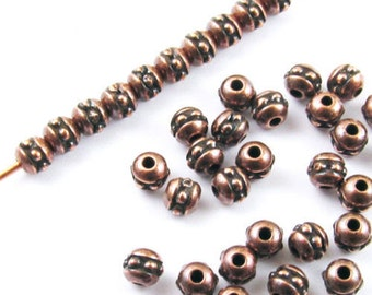 TierraCast Pewter Beads-Antique Copper BEADED SEED BEAD 3mm (50)