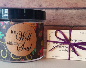 Christian Scripture Jar, 48 Bible Verses, Religious gift, Christian gifts, Scripture, It is Well with my Soul, Mother's Day, gifts for mom