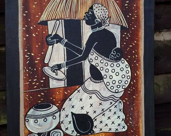 African Hanging Wall Painting