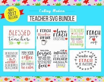 Teacher SVG Cut File Bundle - May 2017 Release - Silhouette Cameo Cricut Vinyl