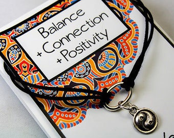 Yin Yang Charm Bracelet - Positive Intention Charm Bracelet - Set Your Intent - Balance - Connection - Positivity  INT005