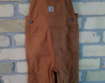 Carhartt Brown/Tan Overalls - 3T