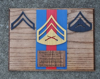 Marine Corps NCO Creed Wall-Hanging Plaque