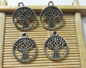 30Pcs Antique Silver Tree Of Life Pendants , Tree Of Life Charms , Tree Of Life Jewelry