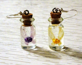 Zelda - Majoras Mask - Tatl and Tael Fairy Bottle Charm Earrings