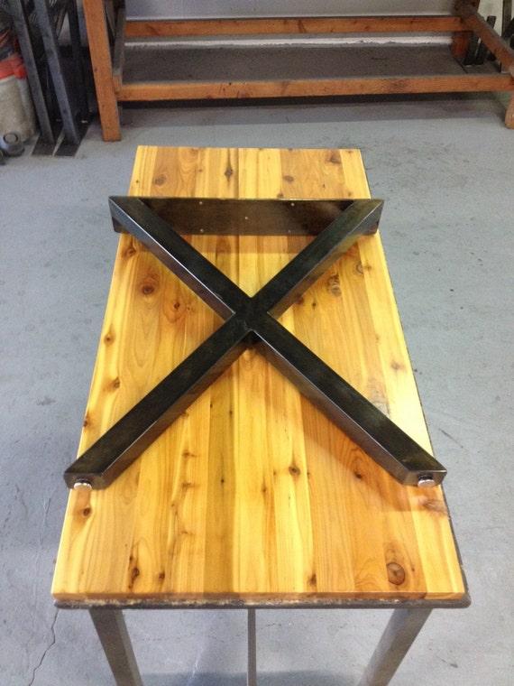 Bon X Metal Table Legs SET OF 2 2 X 2 Steel Tube