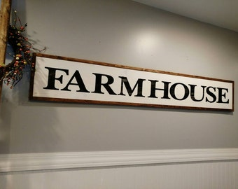 Farmhouse Sign  / Farmhouse Decor /  Rustic Decor / Kitchen Decor / Wall Art / Housewarming Gift / Home Decor / Wall Decor / Gift for Her