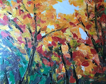 Autumn Sun - 30x24 Original acrylic