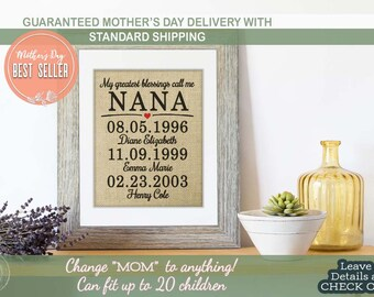 Mothers Day Gift for Grandma Mom Gifts from Daughter Mother of the Bride Gift Grandmother gift Mothers Day Gift for Nana Gift from Grandkids