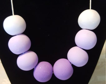Pastel Ombre Clay Necklace