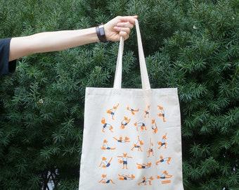 Foxy Yoga Tote Bag