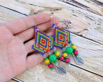 Boho earrings, hippie earrings, boho jewelry