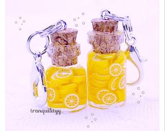 Lemonade Planner Charms, Bottle Planner Charm, Zipper Charm, Purse Charm, handmade By: Von'Dez Redman