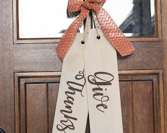 Large Tag - Door Hanger - Fall Design