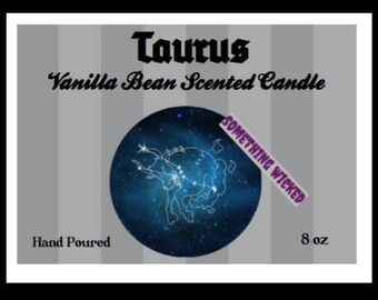 Taurus Zodiac Inspired Candle