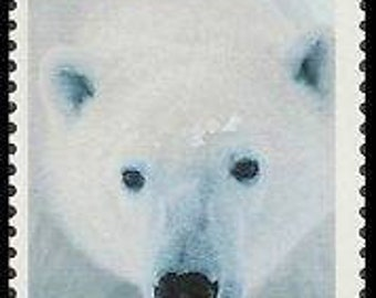 Five (5) unused postage stamps - Polar bear // 33 cent stamps // Face value 1.65