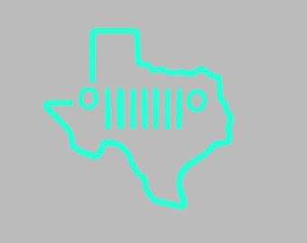 Texas Jeep Decal