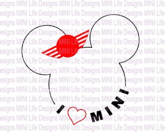 I LOVE MINI vinyl decal