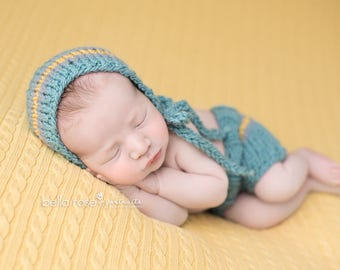 Pants Hat Newborn Set Photo Prop Hand Knit Baby Diaper Cover Infant Shorts Photography Shower Gift Coming Bonnet Knitted Going Home Outfit