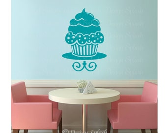 Vinyl CUPCAKE Wall Art Decal KF-100