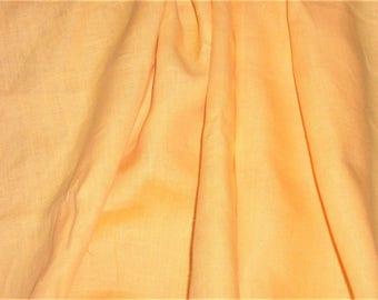 "Bright sunshine yellow linen - 2 yds. 25"" x 58"""