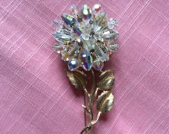Colorful Rhinestone Brooch/Flower Pin