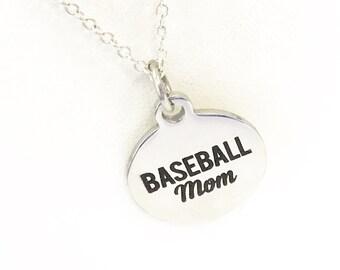 Baseball Mom Necklace, Baseball Mom Gift, Mother's Day Necklace Gift, Gift For Baseball Mom, Baseball Mom Jewelry, Team Mom Gift For Her