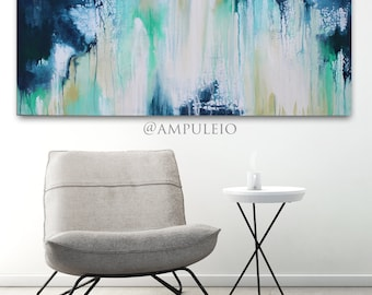 """Abstract Blue and Green Painting 