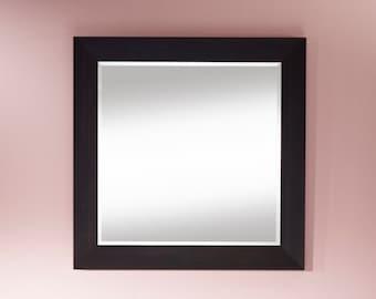 Mirror VALENCIA SQUARE traditional classic rectangular Wenge 95 x 95 cm
