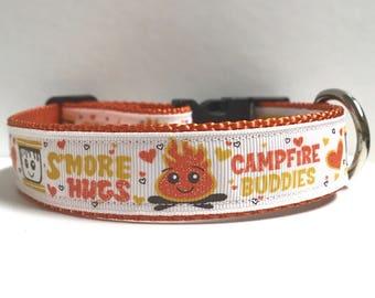 "1"" smore hugs campfire buddies collar"