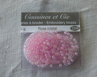 Beads embroidery cousins and companies 3304 pink Crystal collar